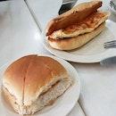 Soft Bun Kaya And egg Cheese Sandwich