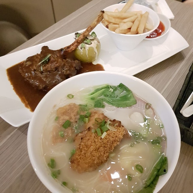 Fish Soup $15 And Pork Chop $23