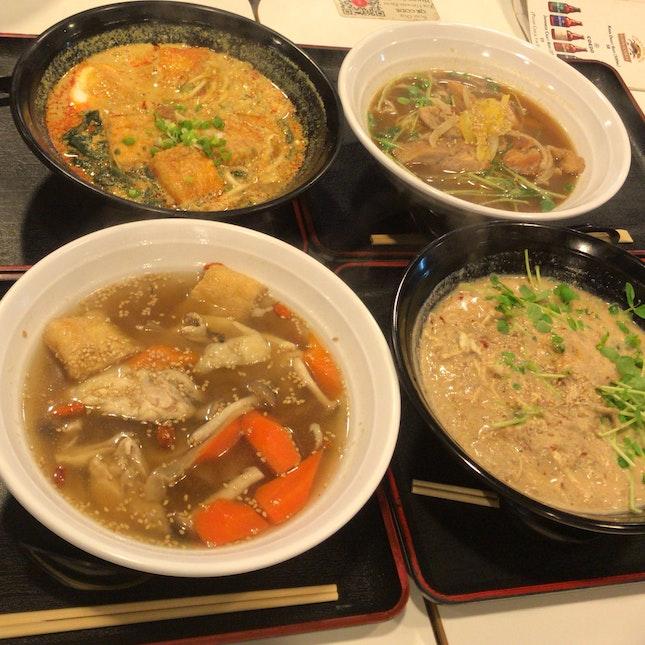Yuzu Miso Chicken, Tantan, Herbal Chicken, Laksa