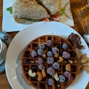 Nuts Waffles & Ham & Cheese Sandwich