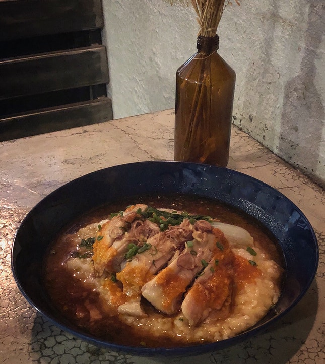 Hainanese Chicken Rice Risotto ($22)