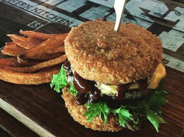 Mac & Cheese Burger ($22)