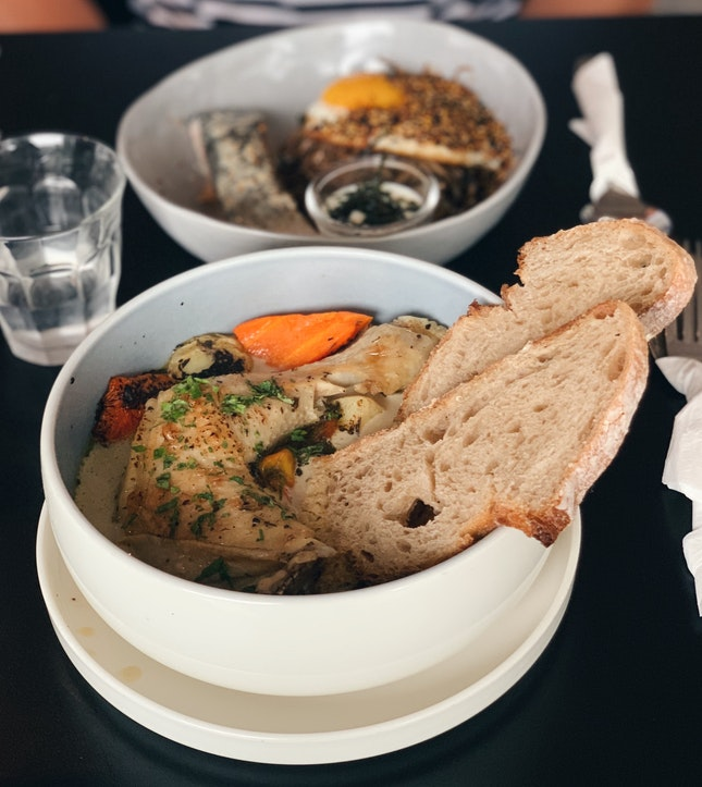 Chicken Stew & Salmon Soba Noodles