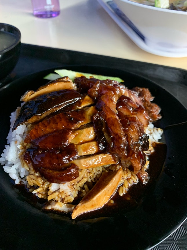 Roasted Duck + Char Siew Rice