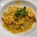 Curry Prawn Pasta