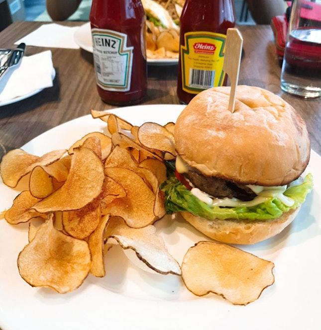 Signature Pork Burger ($12.80++)