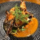[Main Dish] Seared Barramundi & Prawn ($18)