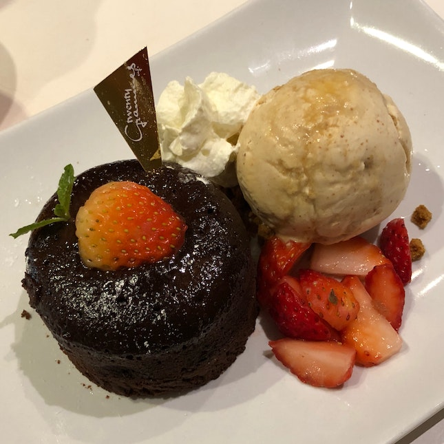 Chocolate Lava Cake + Peanut Butter Ice Cream