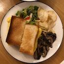 Tamago Sando + Sautéed Mushrooms ($13 + $3)
