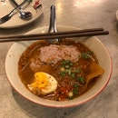 Stick Noodle With Minced Pork In Tom Yum Soup ($6.80)