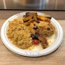 1/4 Chicken Set (Moroccan + Cauliflower Rice + Eggplant, $10)