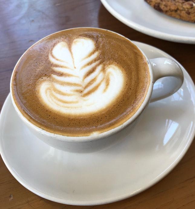 Cappuccino ($4.50 + $1 Almond Milk)