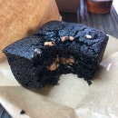 Peanut Butter And Pink Salt Black Cocoa Brownies ($4.80)