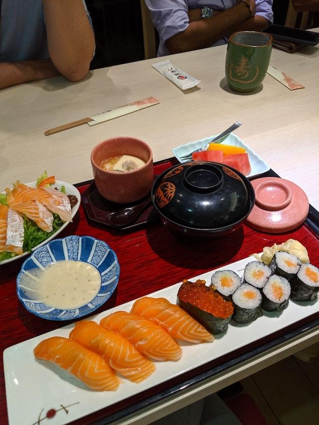 Salmon Nigiri Lunch Set