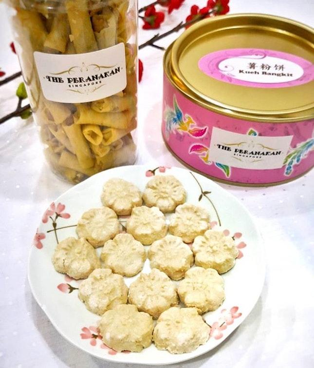 [🎉Charity Bakes🎉] Kueh Bangkit Cookies (S$20) & Hae Bi Hiam Rolls (S$18) || @The_Peranakan .