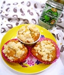 [New Airfryer Recipe] Banana Coconut Muffins with Coconut Streusel Toppings 🧁 .