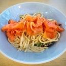 Smoked Salmon Pasta (S$15) || @Cheeky_AllDay