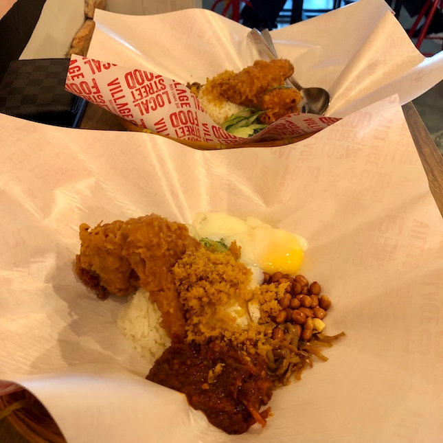 Chicken Wings Nasi Lemak Set