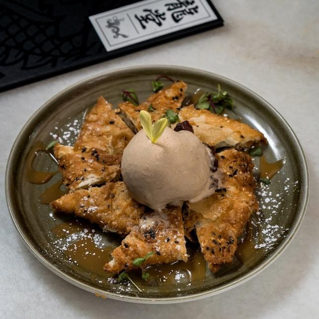 Red Bean Pancakes w Salted Caramel Ice Cream [~$19]