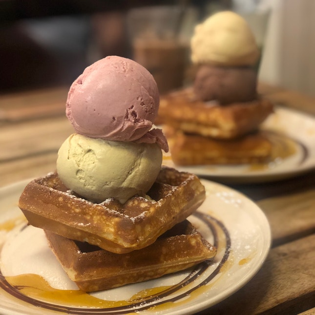 Instaworthy Ice Cream Waffles