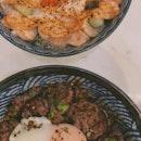 Signature Truffle Wagyu Don [$14.90]  and Mentaiko Salmon Don [$17.90]