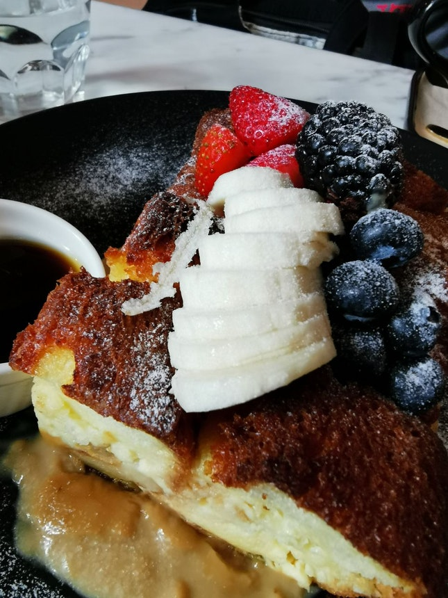 Coffee Custard Bread Pudding