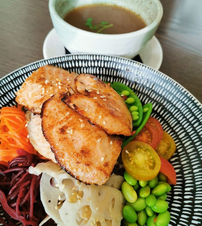 Miso Salmon Grain Bowl