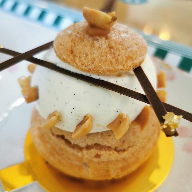 Caramel Peanut Choux Pastry