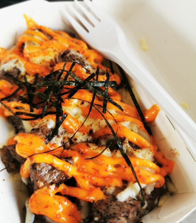 Flame-Grilled Cheesy Mentaiko Beef Cubes