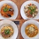 【Burpple Beyond 1-for-1】Seafood Marinara | Spaghetti Vongole | 462 Prawn Laksa Spaghetti | Pork Bacon Aglio Olio #tolidosespressonook #cafe #cafesg #sgcafe #foodstagram #westernfood #spaghetti #foodporn #sgfood #sgfoodies #instafood #instafoodie #burpple #burpplesg #burpplebeyond #aoburpplebeyond