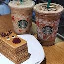 Toffee Nut Crunch Latte | Java Chips | Rudolph's Honey Cake #Starbucks #coffee #coffeelover #coffeetime #coffeebreak #cake #pastry #foodporn #instafood #instafoodie #burpple #burpplesg #aolovescoffee
