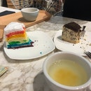 Rainbow Cake & Oreo Cheesecake