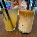 Passionfruit Kombucha And Iced Coffee