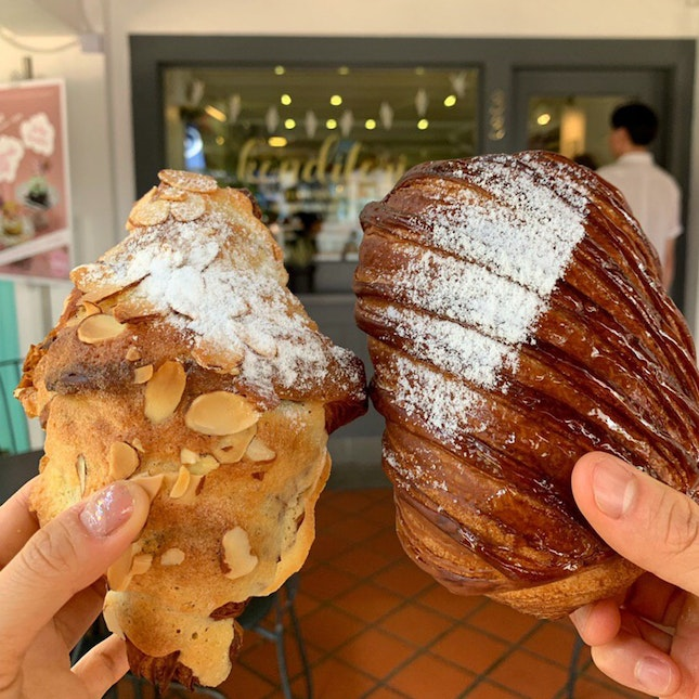Almond Croissant And Pain au Chocolate