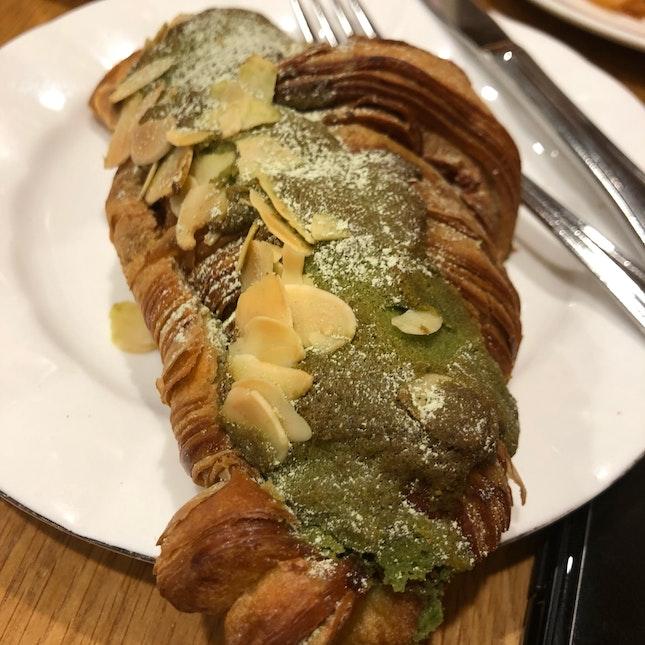 Green Tea Almond Croissant ($5.20)