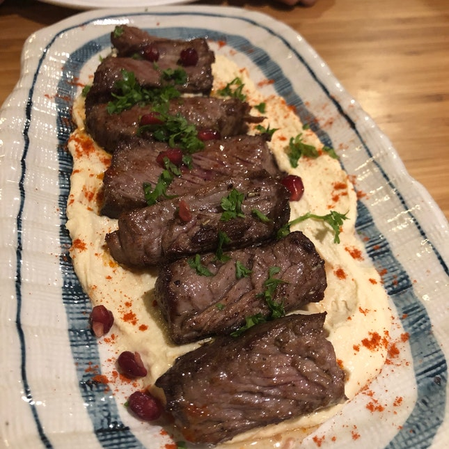 Hummus With Steak ($22)