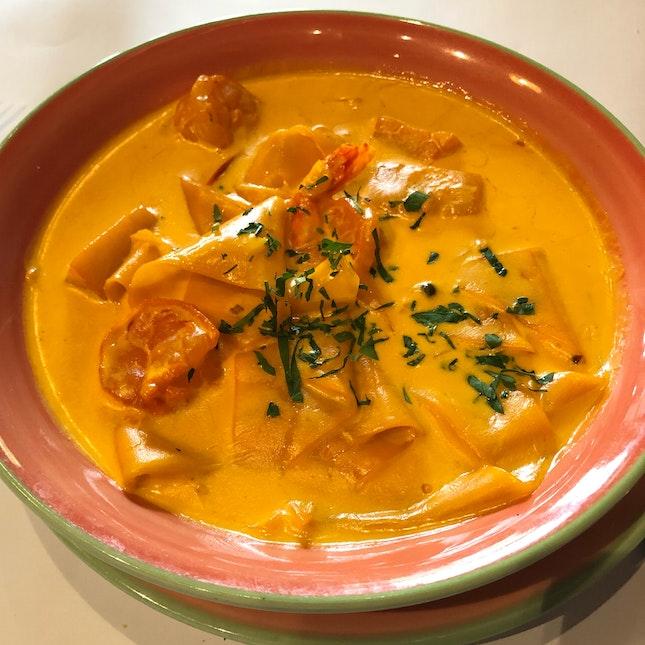 Saffron Cream Seafood Pasta