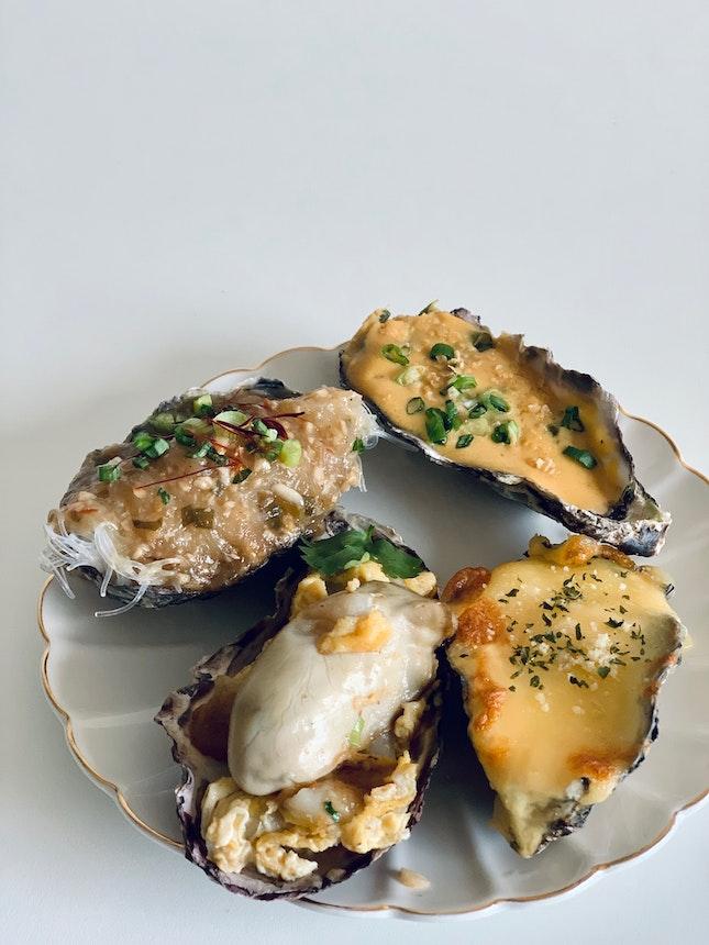 Baked Oyster Taster Platter