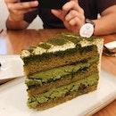 Matcha Rum Cake