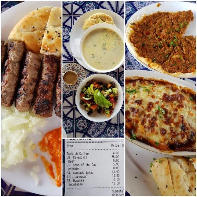 Restaurant Hopping  -- Turkish & Mediterranean Cuisine