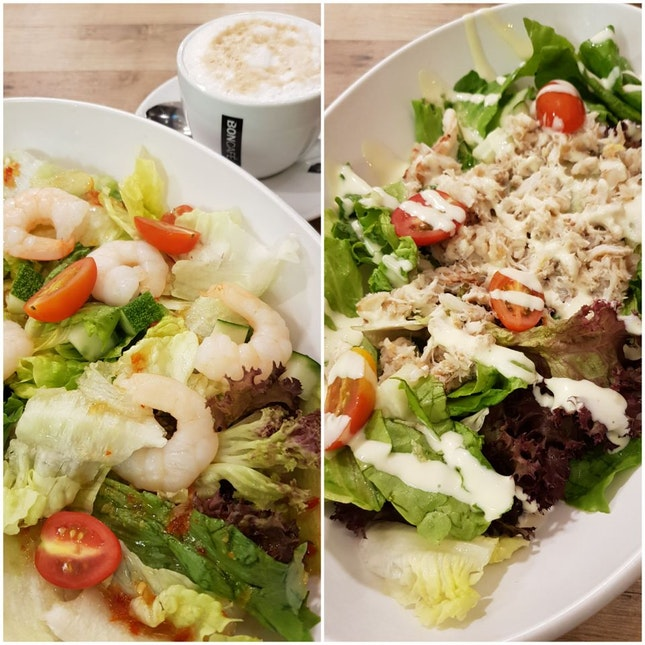Prawn Salad And Crab Salad