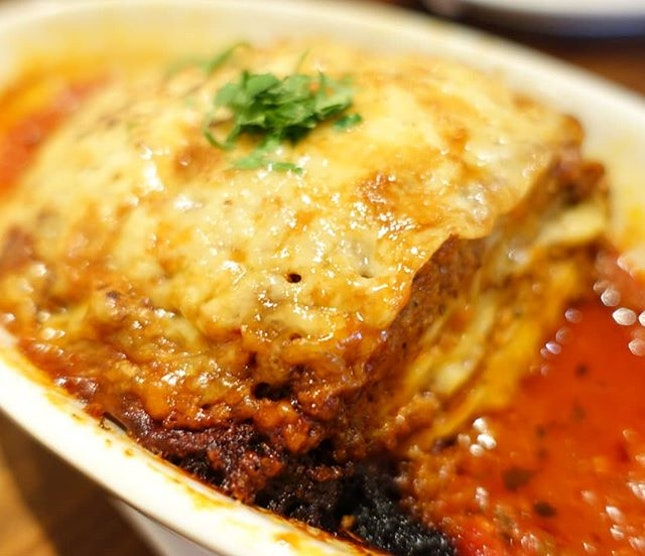 Beef lasagne.