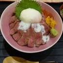 Wagyu Uni Ikura Rice Bowl.