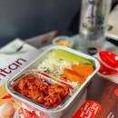 I rarely review airlines' in-flight food, but I'll have to give kudos to @Airasia's.