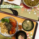 Salmon Teriyaki Don + Cha Soba With Chicken Cutlet (Set A)