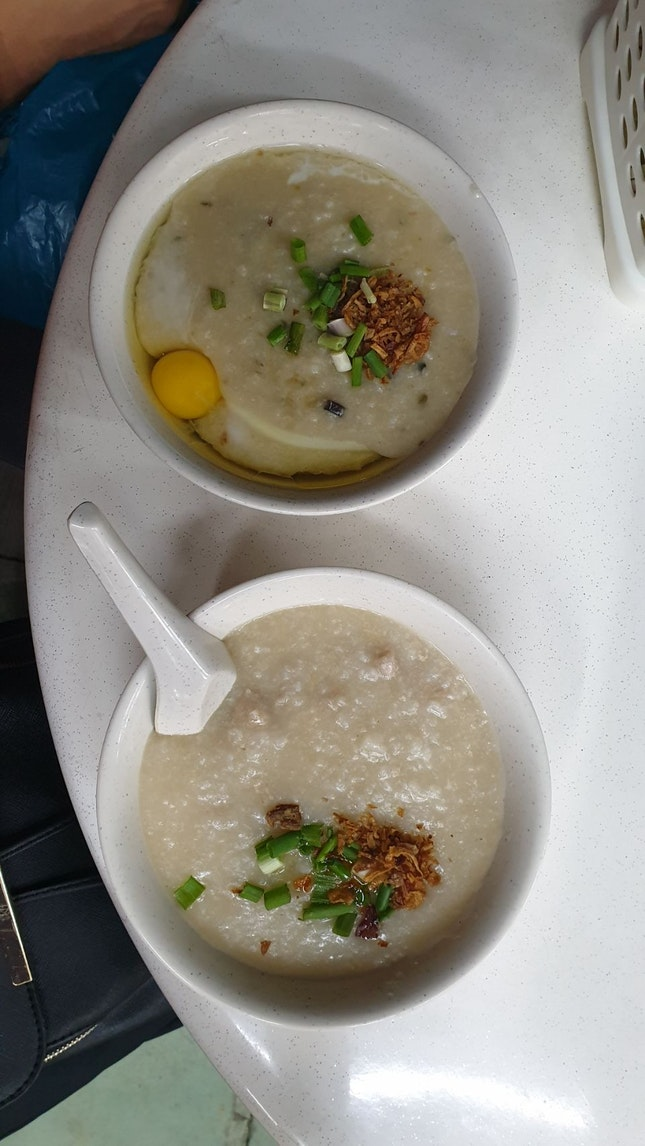 Sliced Pork And Century Egg W/ Meatball Porridge