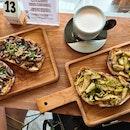 Roasted Mushroom + Brussel Sprout Toast