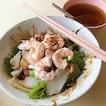 dry prawn noodles ($4.50) @ teck whye