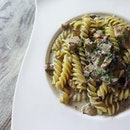 truffle cream portobello pasta ($15.90) @ pan delights