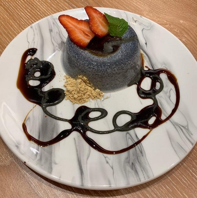 Black Sesame Panna Cotta ($5.80++)